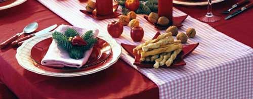 decorar mesa de navidad barato
