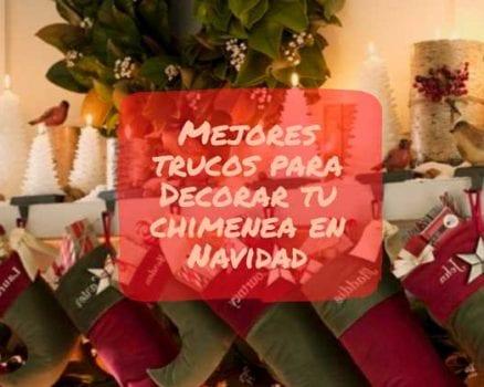 decorar navidad chimenea