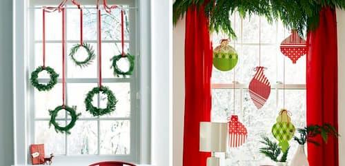 guirnaldas navideñas para ventanas