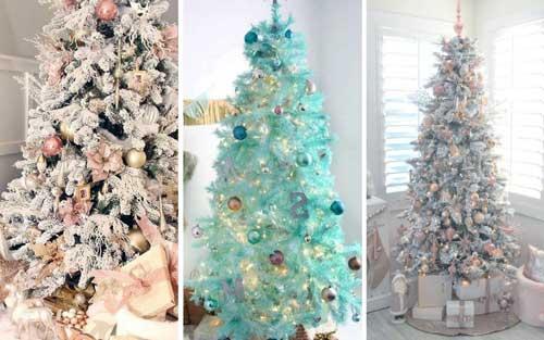 ideas para decorar arbol de navidad blanco