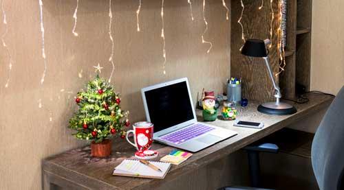 ideas para decorar en navidad en la oficina