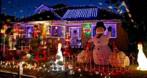 luces de decoracion navideña