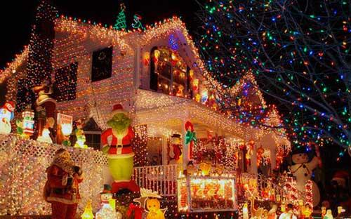 luces navideñas para fachadas