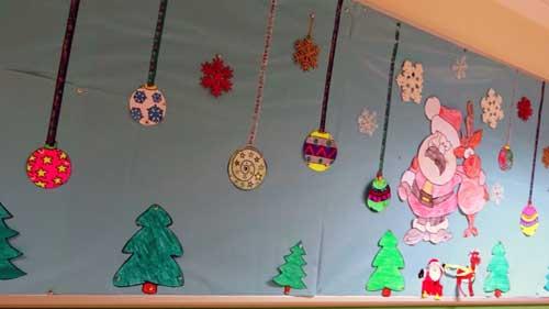 Dibujos De Navidad Para Decorar La Clase.Decorar Clase En Navidad En 2019 Decorar Navidad