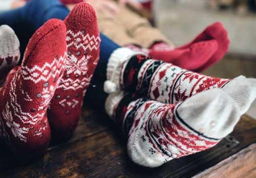 bota navidad fieltro
