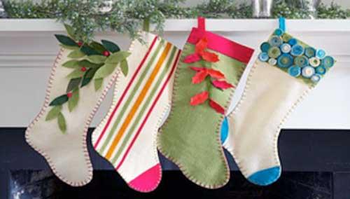 calcetin de navidad para colorear