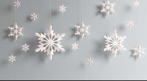 como hacer copos de nieve con papel
