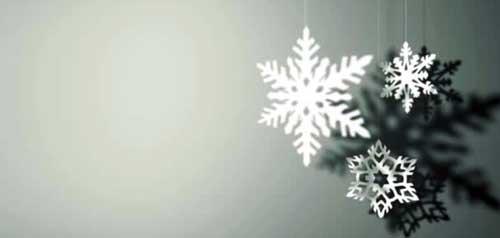 como hacer copos de nieve para decorar