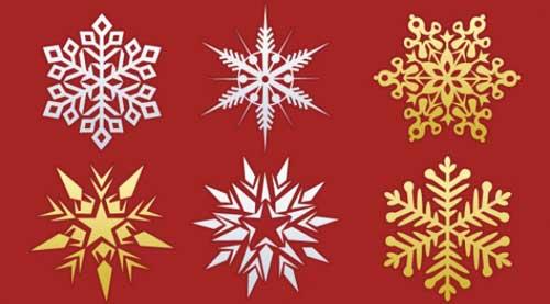 como hacer copos de nieve para navidad