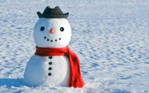como hacer muñeco de nieve grande
