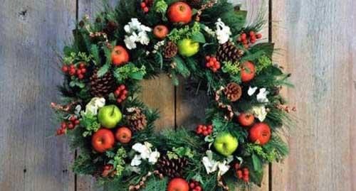 coronas navideñas para puertas