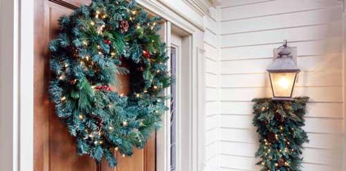 decoraciones de coronas navideñas
