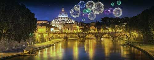 fuegos artificiales roma navidad