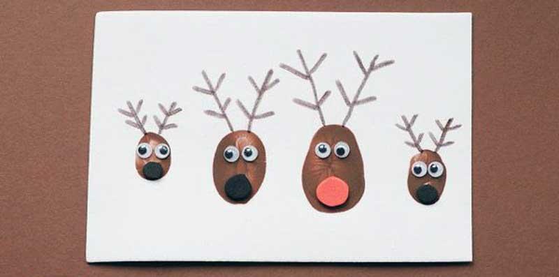 postales de navidad originales hechas a mano