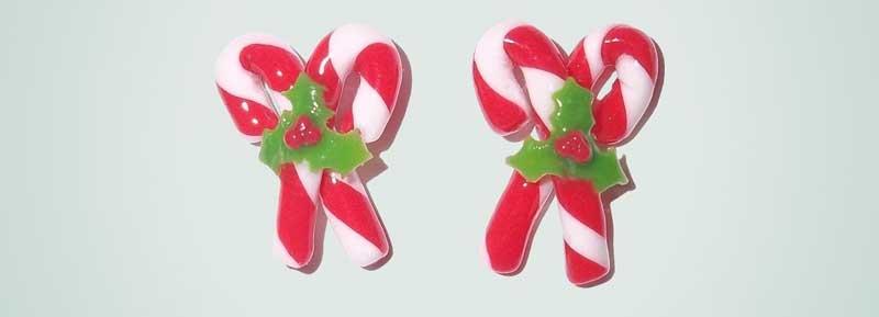 bastones de navidad para colorear