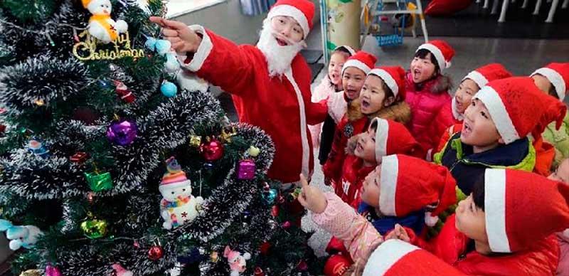 como celebran la navidad en china