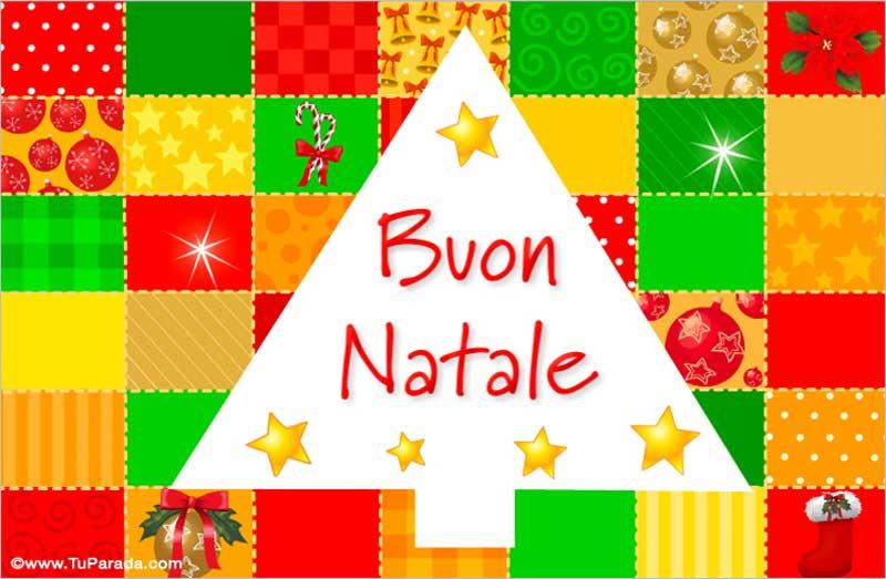 como se escribe feliz navidad en italiano