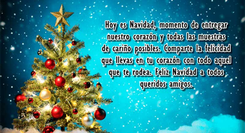 felicitaciones de navidad bonitas para amigos