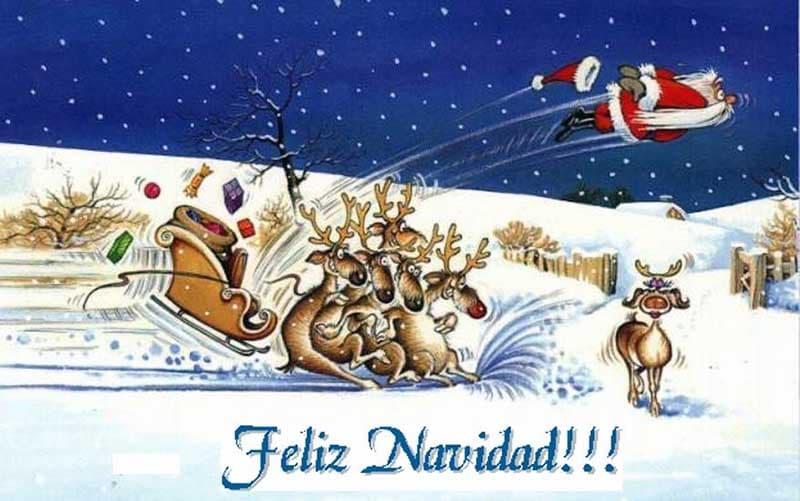 imagenes de felicitaciones de navidad graciosas