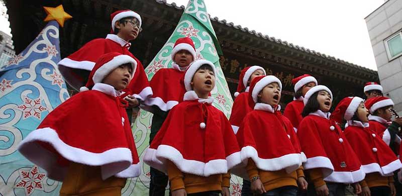 la navidad en china