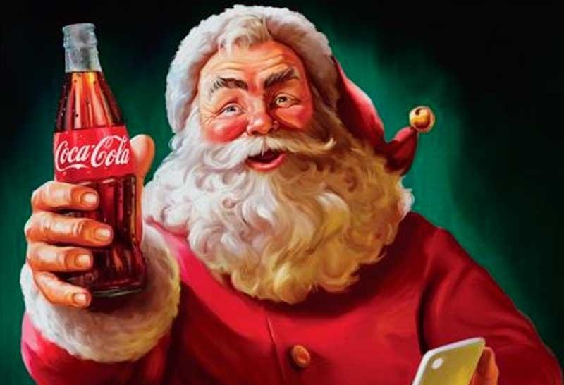 llamado de papa noel coca cola