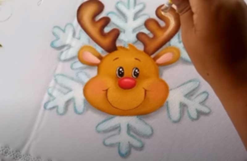 dibujo navideño renos