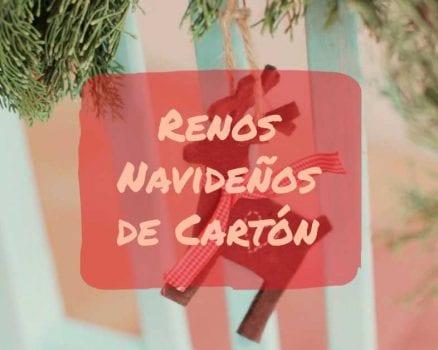 renos navideños de carton